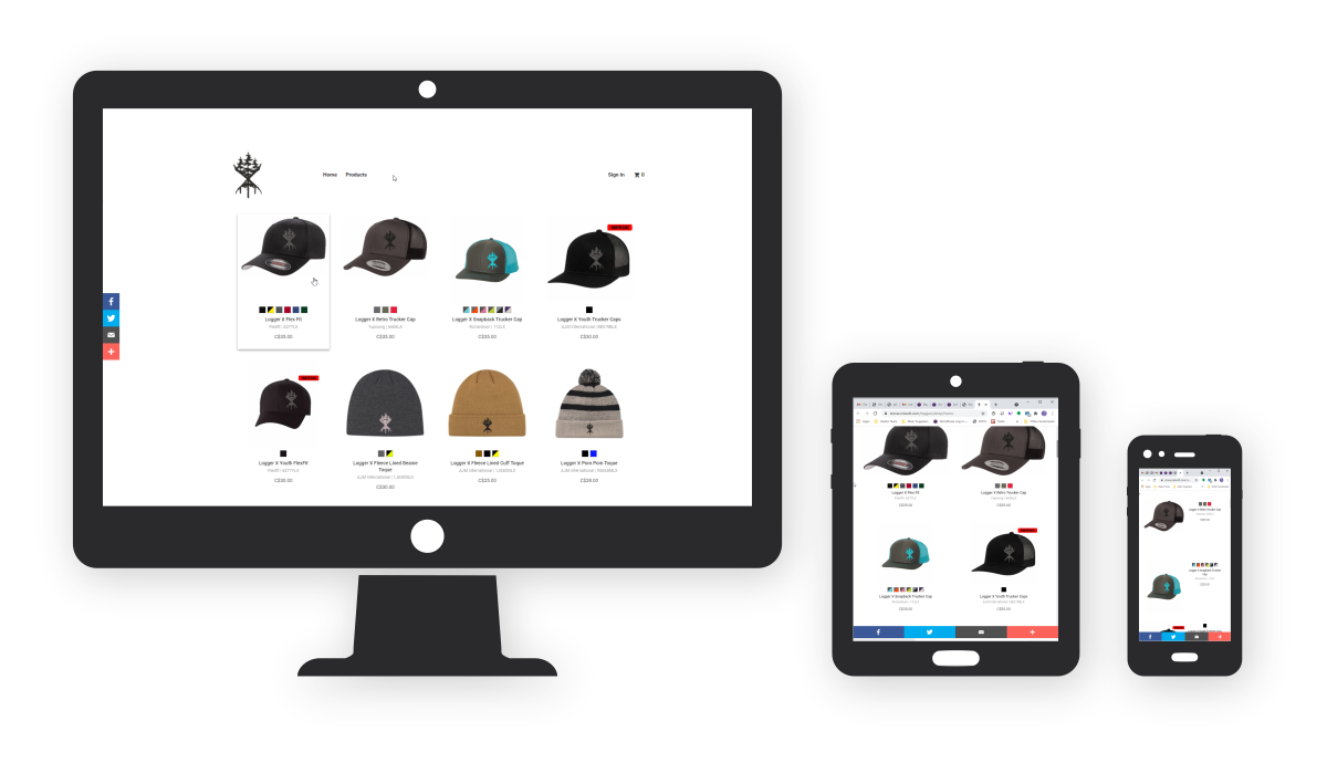 Homepage Larger Webstore